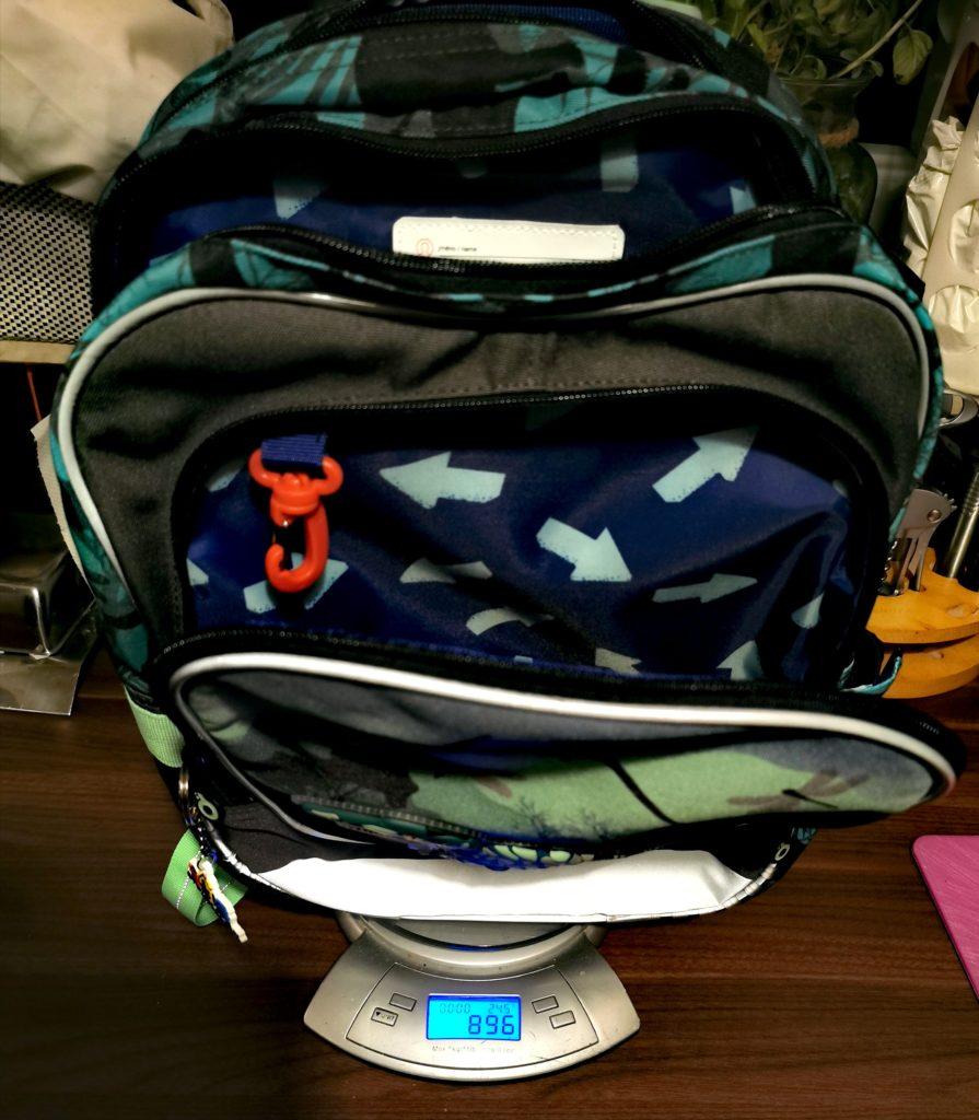 Plecak szkolny - waga